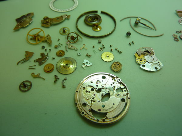 A watch has many parts