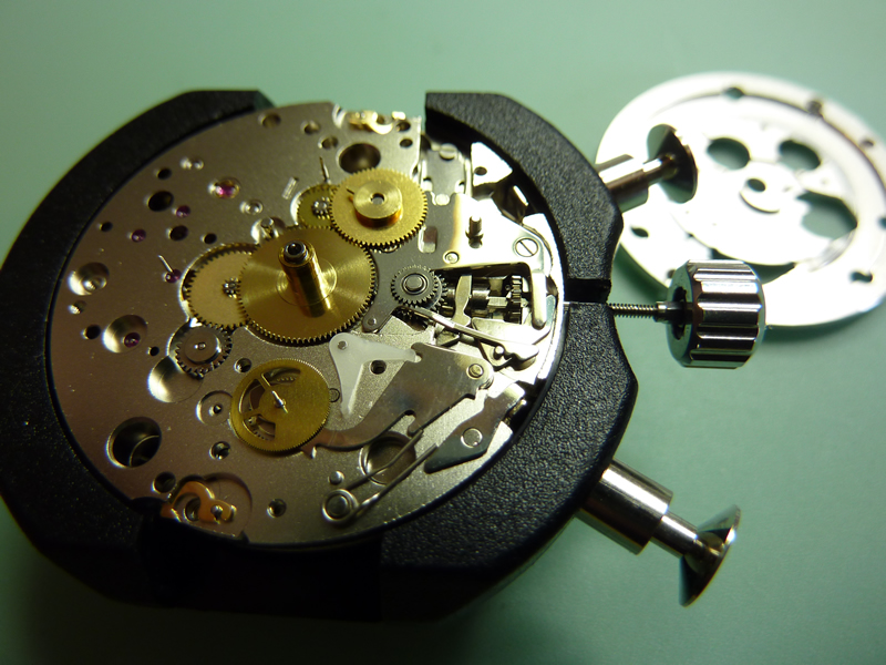 Under the dial of a tag heuer